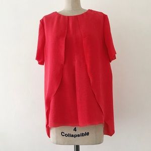 COS   Red Short Sleeve Blouse
